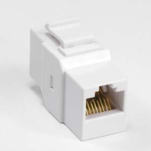 InstallerParts Cat 6 Inline Coupler w/Keystone Latch White (Lcd Kit Latch)