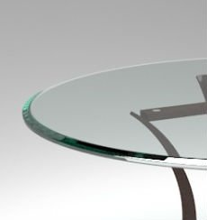 24'' Inch Round Glass Table Top 1/2'' Thick Tempered Beveled Edge by Fab Glass and Mirror by Fab Glass and Mirror (Image #3)