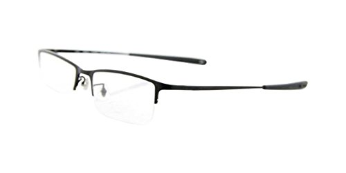 Luxury Titanium Men's Black Half Rimless Eyeglass Frames Spectacles Nickel - Free Nickel Frames Eyeglass