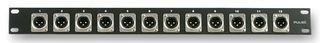 Rack Panel 1U Loaded W/12 Male Xlr Plugs