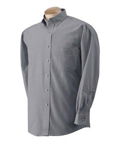 Van Heusen - Long Sleeve Oxford Shirt - (Van Heusen Fitted Dress Shirts)