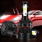 MAUBHYA 2 PCS Auto Car H7 24W 2200LM 6000K Pure White Philips ZES LED Headlight Bulbs Conversion Kit, DC 9-36V