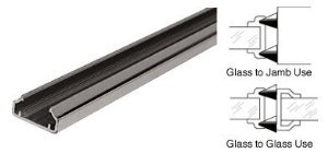 CRL Dark Bronze Male Edge Weatherstrip With Pile for 1/2'' Glass Doors - DW12MDU