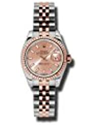 Rolex Lady Datejust 26 Pink Dial Stainless Steel and 18K Everose Gold Jubilee Bracelet Automatic Watch 179171PSJ