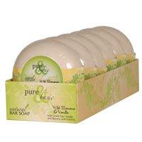 Bar Soap Wild Banana - Natural Bar Soap, Wild Banana Vanilla 6.4 oz(case of 6) by Pure & Basic (Pack of 3)
