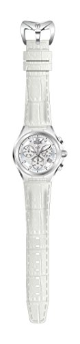 Technomarine Men's 'Manta' Quartz Stainless Steel and Leather Casual Watch, Color:White (Model: TM-215016)
