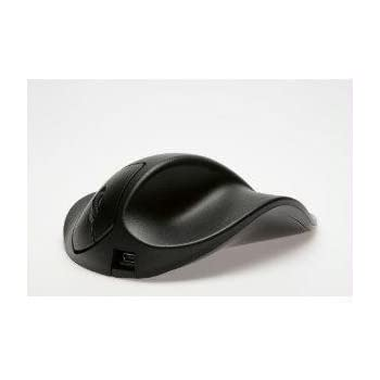 Hippus Wireless Light Click HandShoe Mouse (Right Hand, Medium, Black)