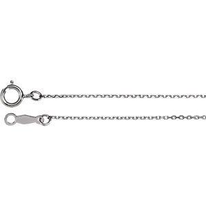 Platine 1mm Diamant coupe câble 45,7cm Chaîne