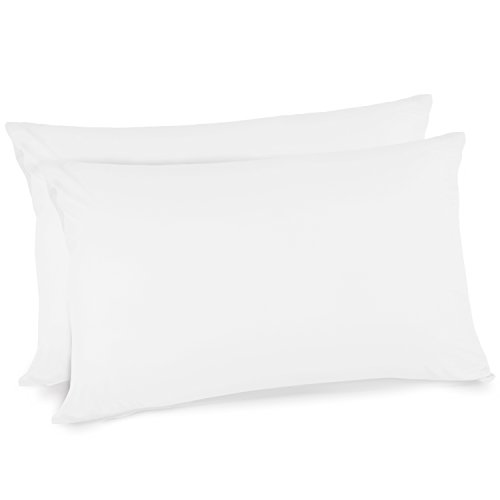 Adoric Pillow Cases Queen Size Ultra Soft Brushed Microfiber, Durable Pillow Cover - 2Pcs, White