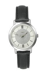 Timex Fashion Collection Leather Strap Silver Dial Women's watch #T2M539