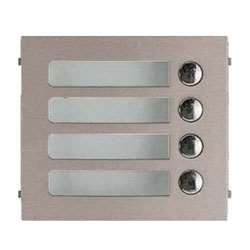 Aiphone GF-4P Four-Call Button Panel for the GF and GT Series Modular Multi-Tenant Entry Security System