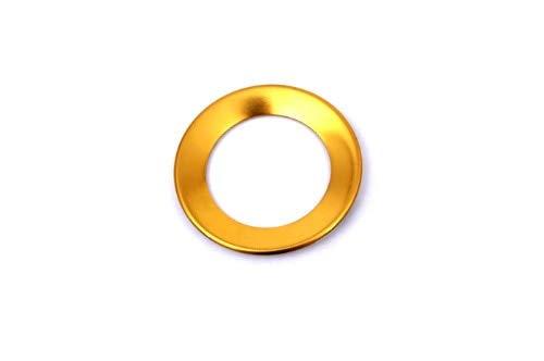 WALKER TRENT - Steering Wheel Emblem Ring Ornament Gold For various VW Models