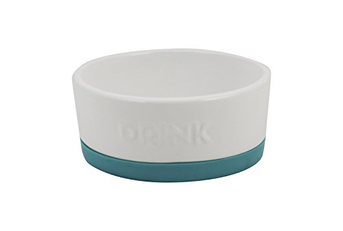 Winifred & Lily Ceramic Pet Bowl for Food & Water, with Non-Skid Rubber Bottom for Small, Large Dogs and Cats