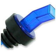 WIDGETCO Blue Plastic Pour Spouts w/Bug Screen & Grip Collar