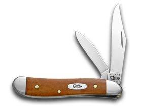CASE XX Smooth Chestnut Bone Peanut Pocket Knife Knives