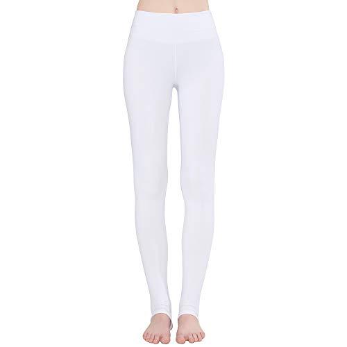 - LaiEr Women's High Rise Foot Stirrup Sports Yoga Leggings (White, Medium)