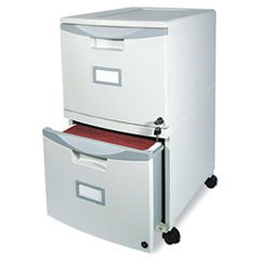 ** Two-Drawer Mobile Filing Cabinet, 14-3/4w x 18-1/4d x 26h