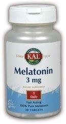 3 Mg 30 Tabs (Kal Melatonin, 30 Tabs 3 mg by Kal)