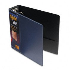 Cardinal Products - Cardinal - SpineVue Round Ring View Binder, 3amp;quot; Capacity, Navy - Sold As 1 Each - Exclusive wraparound clear overlay holds standard letter size sheet. - Leather-like vinyl cover material and hidden rivets for a professional, premium (Hidden Rivet Round Ring)