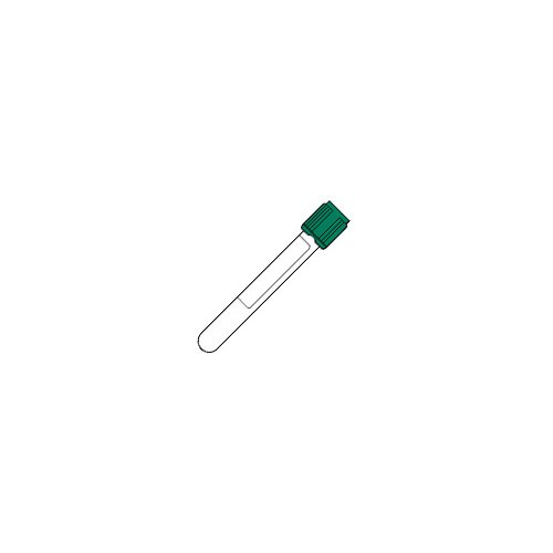BD Medical Systems 367878 Tube with Paper Label, Hemogard Closure, Plastic, 13 mm x 100 mm Size, 6 mL Capacity, Green (Pack of 100)