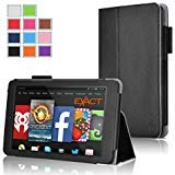 (Fire HD 7 Case - Exact Amazon Fire HD 7 4th Gen Case [PRO Series] - Premium PU Leather Folio Case for Amazon Fire HD 7 4th Generation (2014) (With Auto Wakes/Sleep Function) Black)
