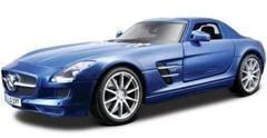 Mercedes SLS AMG Gullwing Blue 1/18 by Maisto 36196
