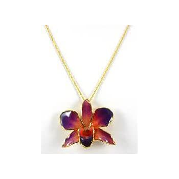 Amazon real flower gold orchid necklace pendant purple orange real flower gold orchid necklace pendant purple orange aloadofball Choice Image