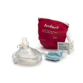 Ambu CPR Mask in Red Pouch, 10-517, (Pack of 5) (10-517)