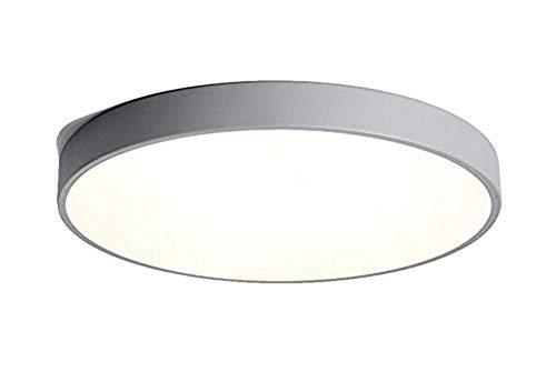 Macaron Modern Minimalist LED Ceiling Lights, Round Lighting Lamp for Living Room,Bedroom, 5mm Thick, Cool White (Grey, - Ceiling Ken Lighting