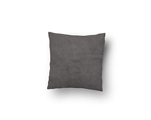 Velvet Square Throw Pillow Case in Gunmetal (Multiple Sizes Available)