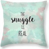 Typography Pillow Snuggle Pillow Quote Cute Pillows for Kids Gift for Boyfriend Purple and Teal Bedding Funny Pillow Case Funny Gifts for Men Joutletshop - Purple Teal Throw Pillows