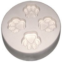 Glass Fusing / Slumping Supplies : Paw Print Casting Mold ()