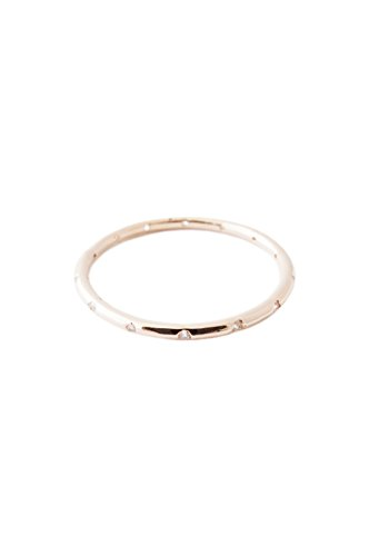 HONEYCAT Dotted Crystal Ring in Gold, Rose Gold, or Silver | Minimalist, Delicate Jewelry (Rose Gold 8)