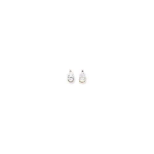 14k 8x5 Pear Earring Mountings
