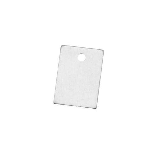 Beadaholique Sterling Silver Blank Stamping Rectangle Charms 9x6mm (2)