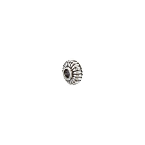24814 / Sterling Silver / 12.75X06.75 Mm / Polished / Kera Fluted Bead