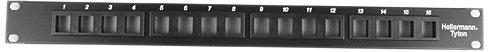 Hellermann Tyton P108-16-MOD Modular Patch Panel 16 Port, 1U, Steel, Black