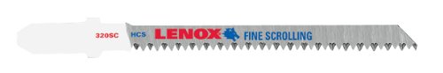 (Lenox Tools 20294BC320SC T-Shank High Carbon Steel Jig Saw Blade, 3-5/8Inch x 3/16-Inch 20TPI, 25-Pack)