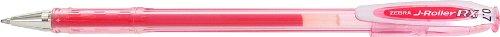 Zebra J-Roller RX Gel Stick Pen, 0.7mm, Red, 12 Pack (43130)