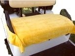 Nif Tee Seat Golf Cart Bench Seat Cover, Made of Soft 100% Cotton Washable Velour Terry Cloth, Fits All Standard Electric Golf Carts, Keeps Golfers Comfortable on The Greens Year Around, NTS (Yellow)