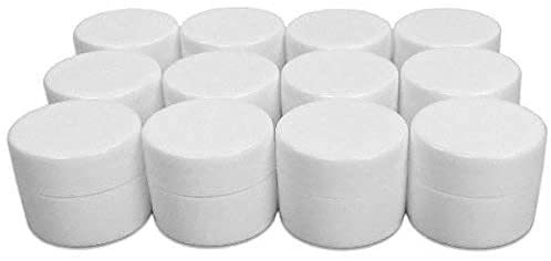 12 Pack Empty Lip Balm Containers 0.25 Ounce Jars with Lids by Bottles N Bags