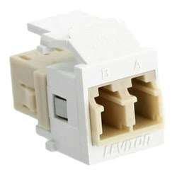 Leviton ADPT LC DPLX SM/MM PHOS LC Adapter 41085-MLW