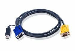 Aten 10 FT PS/2 to USB Intelligent KVM Cable - SPHD15 to VGA & USB A