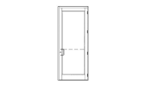 "Price comparison product image CRL-U.S. Aluminum DH-350 Hurricane Impact Medium Stile Single Door 36"" x 84"" Right Hand Swing Out White"
