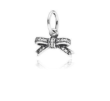 Pandora Sparkling Bow Sterling Silver Charm No. 390357cz (Pandora Bow Charm)