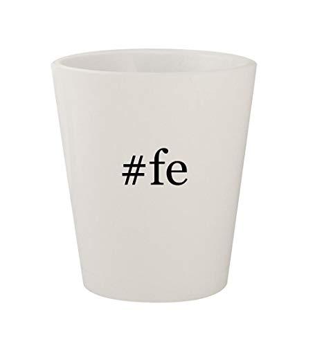 - #fe - Ceramic White Hashtag 1.5oz Shot Glass