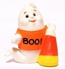 (HMK Ghost with Candycorn 1992 Halloween Merry Miniature by Hallmark)