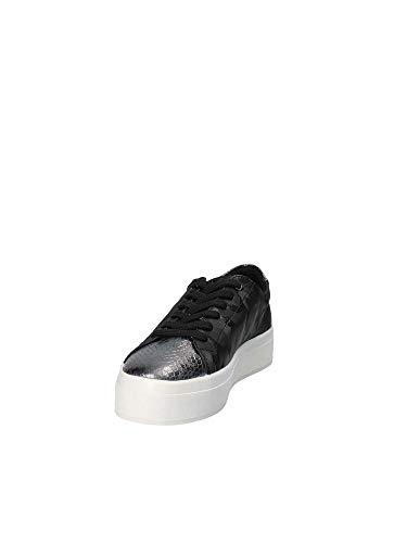 Femme de Noir Guess Fhala Black Chaussures Black Gymnastique IvqqgZO
