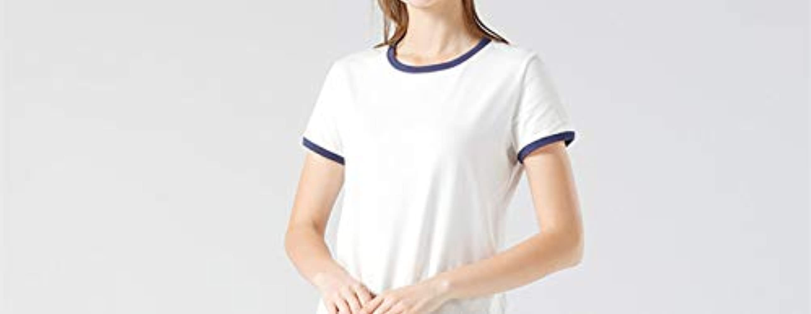 N\P manga corta camiseta blanca de verano de las mujeres ...