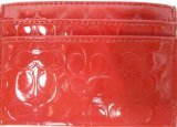 Coach Embossed Liquid Card Case Red F62544B4RD